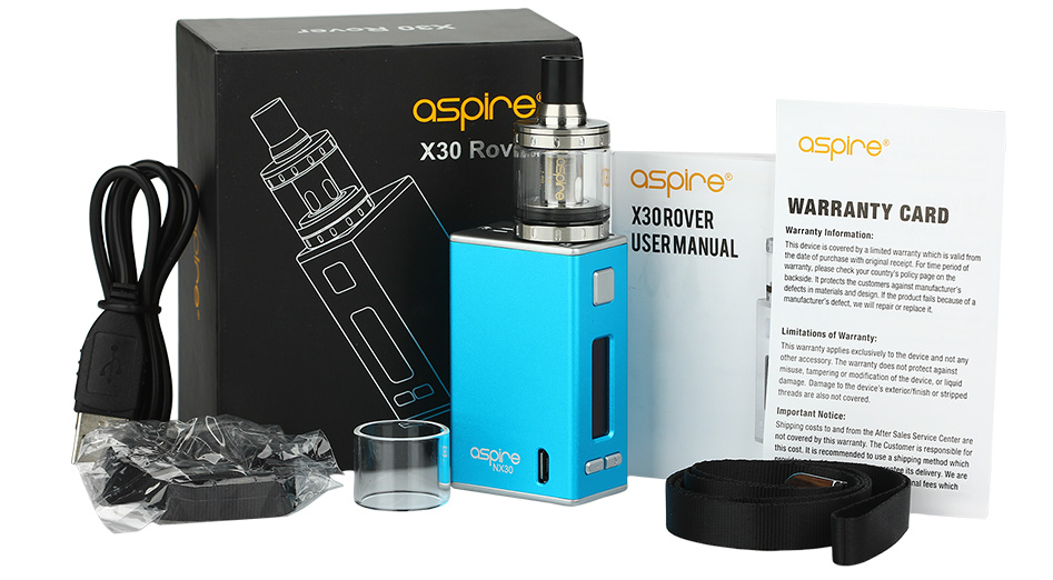 Aspire X30 Rover Kit With Nautilus X And NX30 MOD - 2000mAh
