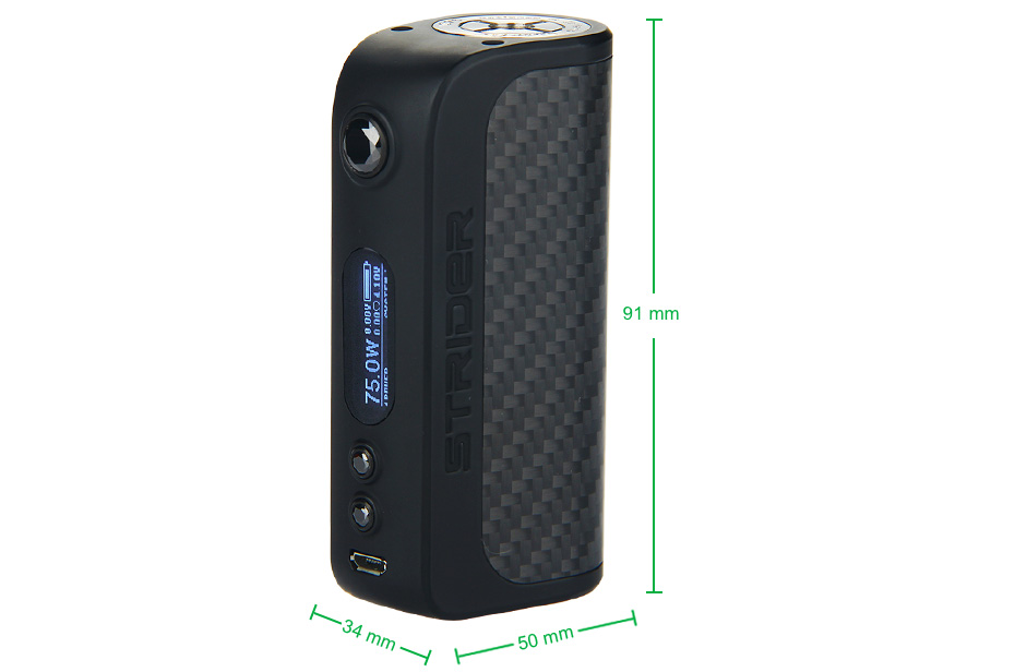 Asvape Strider VO75 TC Box MOD W/O Battery 2