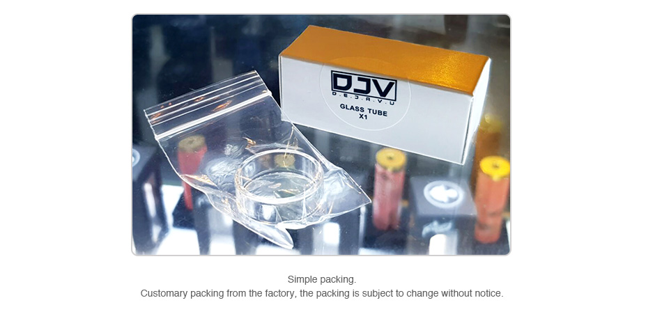 DEJAVU RDTA Replacement Glass Tube 2ml