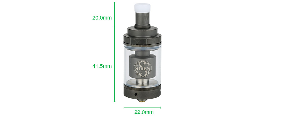 Digiflavor Siren 2 GTA MTL Atomizer 2ml / 4.5ml