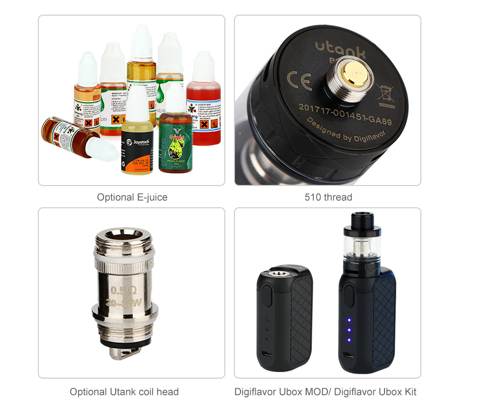 Digiflavor Utank Sub Ohm Tank - 2ml