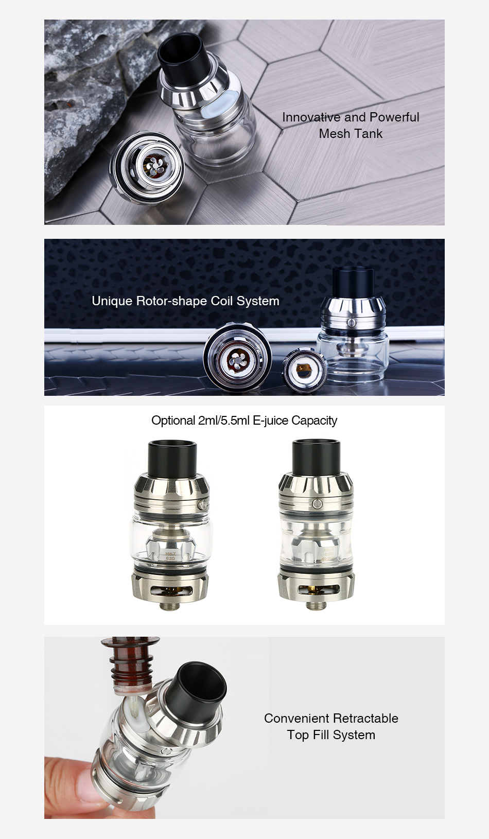 Eleaf Rotor Mesh Tank 2ml/5.5ml