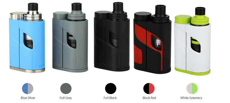 Eleaf iKonn Total dengan Ello Mini Full Kit W / O Battery - 2ml