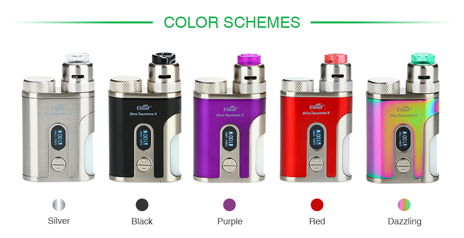 Eleaf iStick Pico Squeeze 2 100W-os Squonk készlet Coral 2 RDA-val