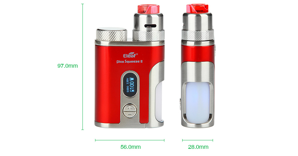 Eleaf iStick Pico Squeeze 2 100W Squonk Kit with Coral 2 RDA