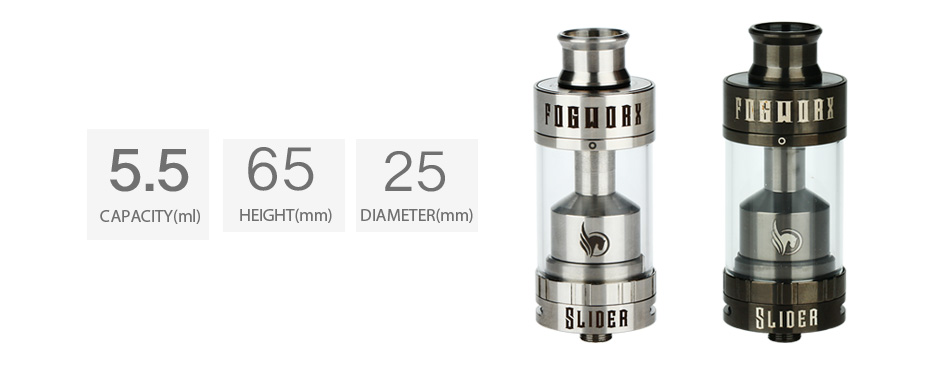 Fogworx Slider RTA Atomizer - 5.5ml