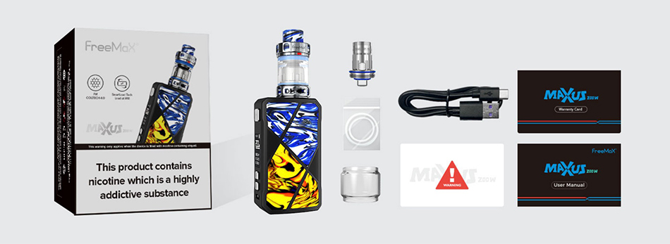 Freemax Maxus 200W TC Kit With Mesh Pro 2 Tank