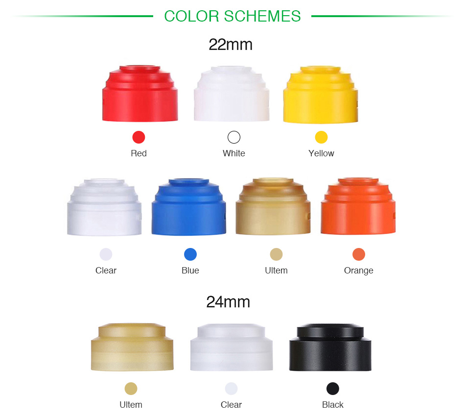 GAS MODS G.R.1 RDA Top Cap 22mm/24mm