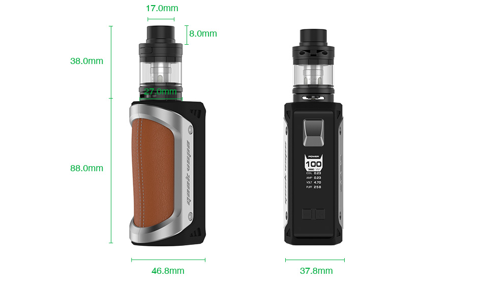 GeekVape Aegis 100W 26650 TC Kit with Shield Tank 4300mAh