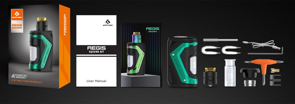 GeekVape Aegis Squonker 100W TC Kit with Tengu RDA