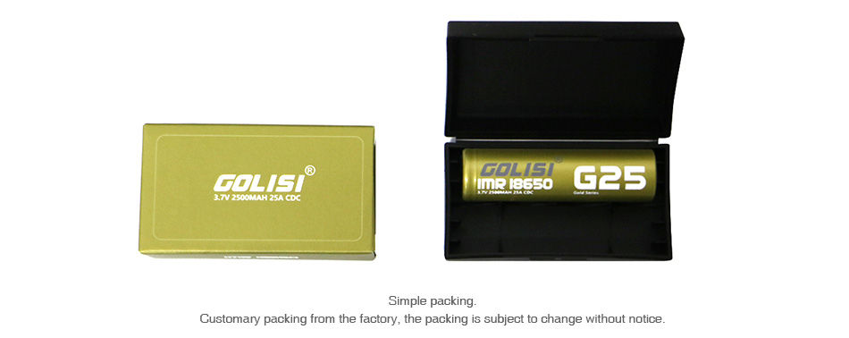 Golisi G25 IMR 18650 High-drain Li-ion Battery 25A 2500mAh
