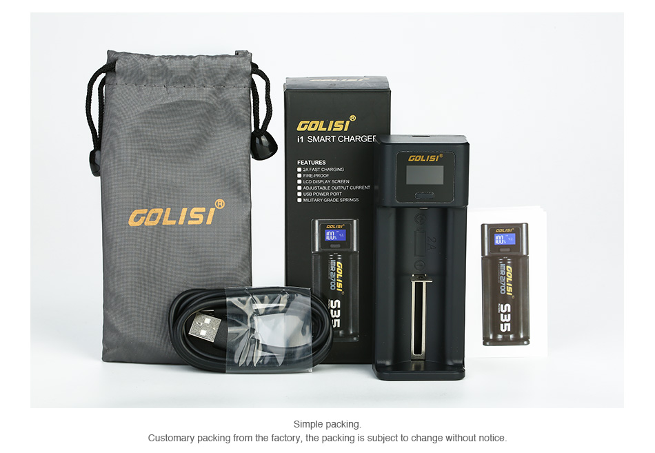Golisi I1 2A Smart USB Charger with LCD Screen