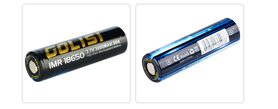 Golisi S30 IMR 18650 3000mAh High-drain Battery - 50A