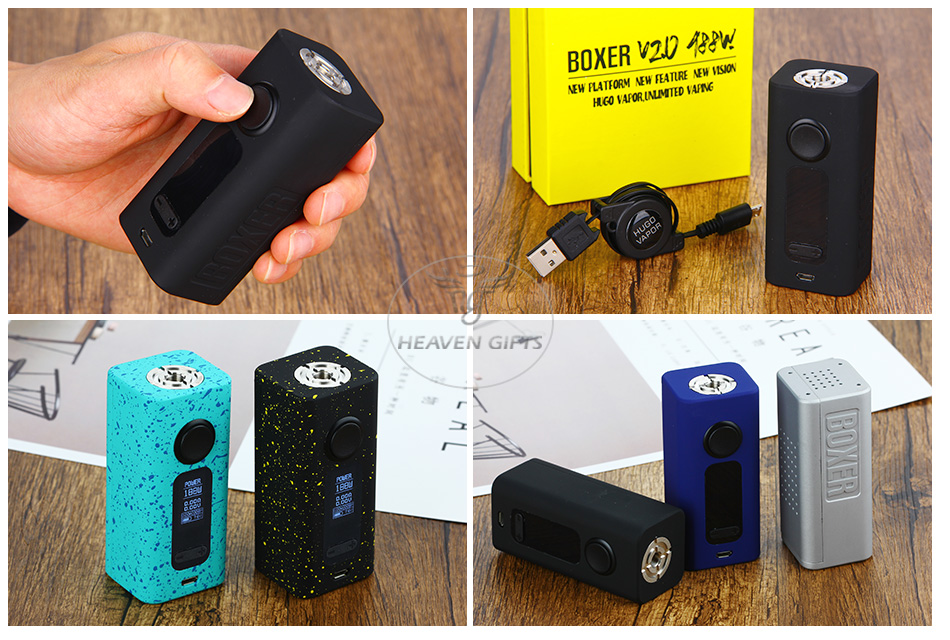 Hugo Vapor Boxer V2.0 188W TC Box MOD W / O Battery
