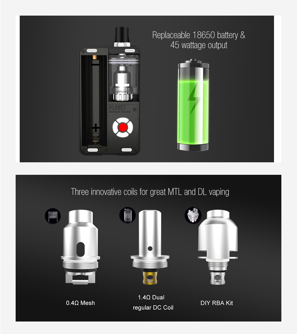Hugo Vapor Planet 45W Pod Kit