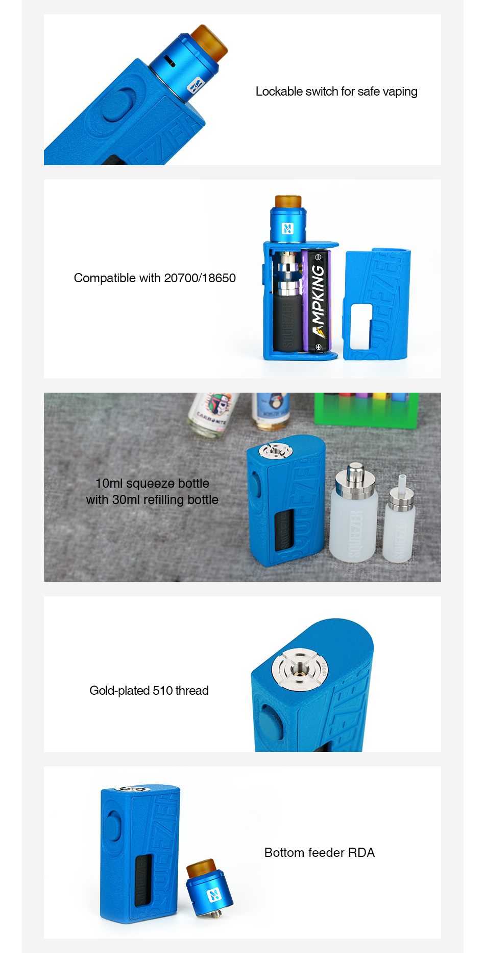 Hugo Vapor Squeezer BF 20700 Kit with N RDA