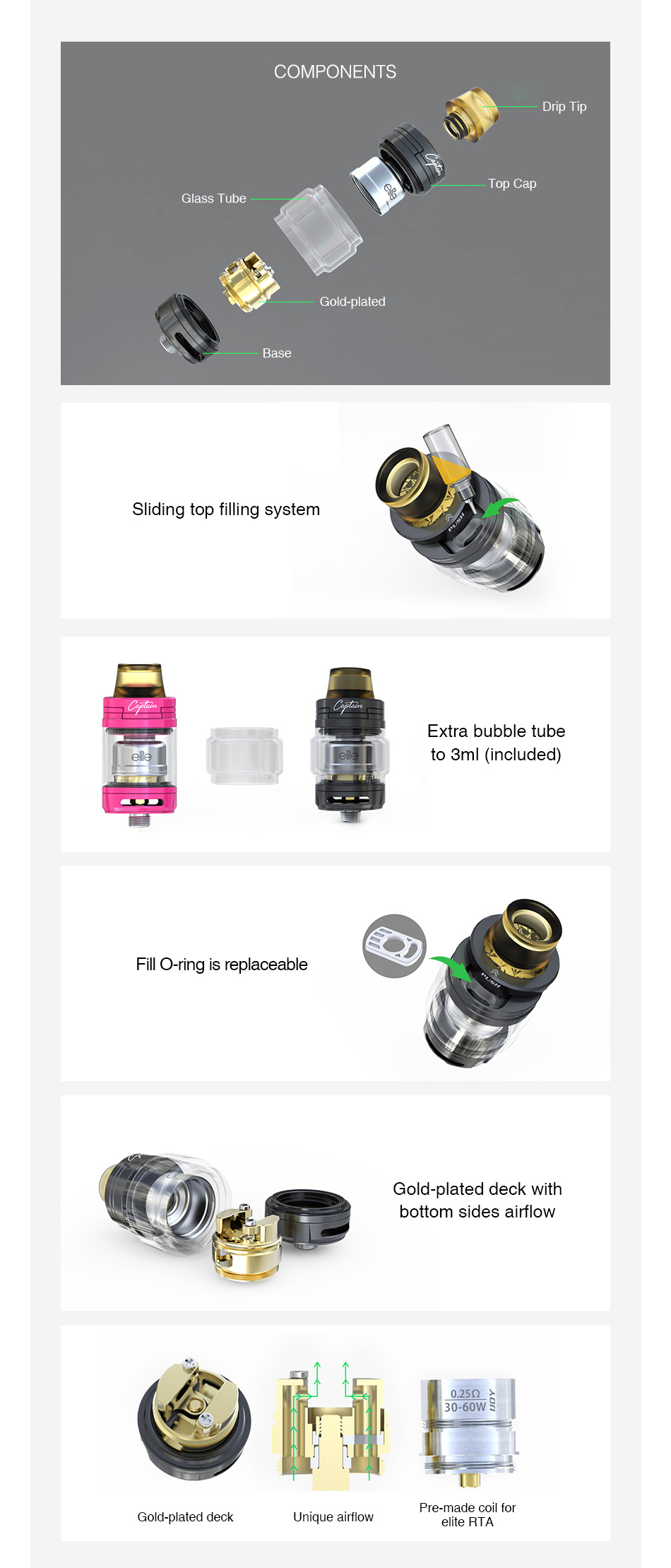 IJOY Captain Elite RTA 2ml/3ml