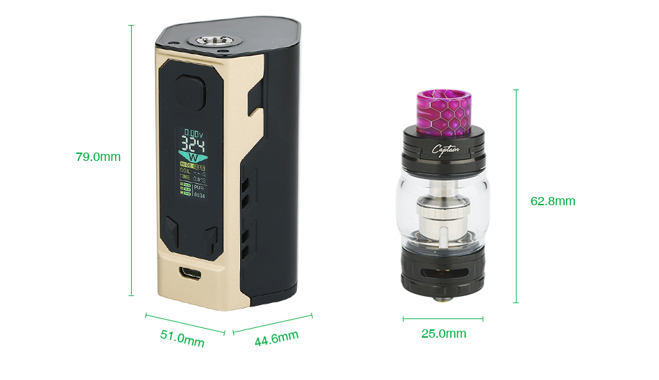 IJOY Captain X3 324W 20700 TC Kit 9000mAh