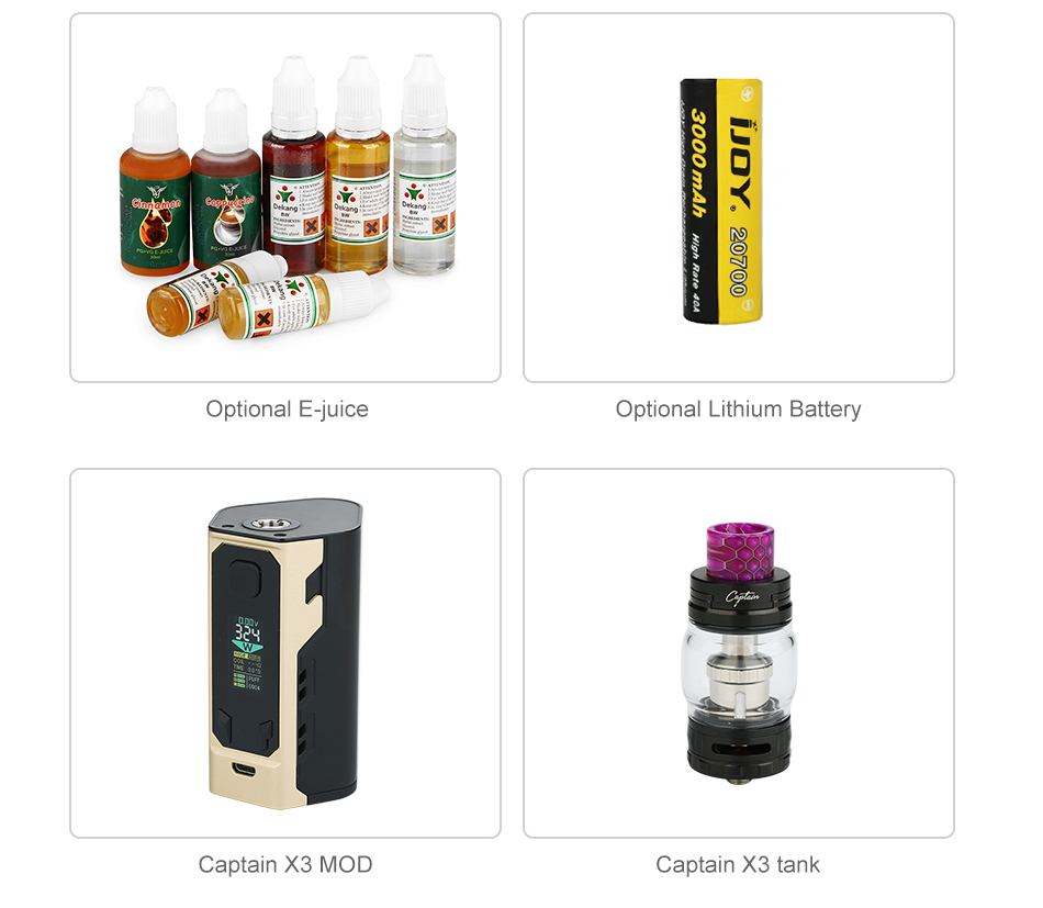 IJOY Captain X3 324W 20700 TC Kit