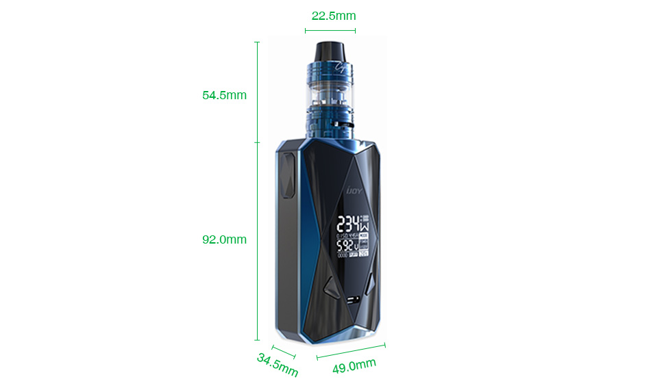 IJOY Diamond PD270 234W TC Kit with Captain Mini