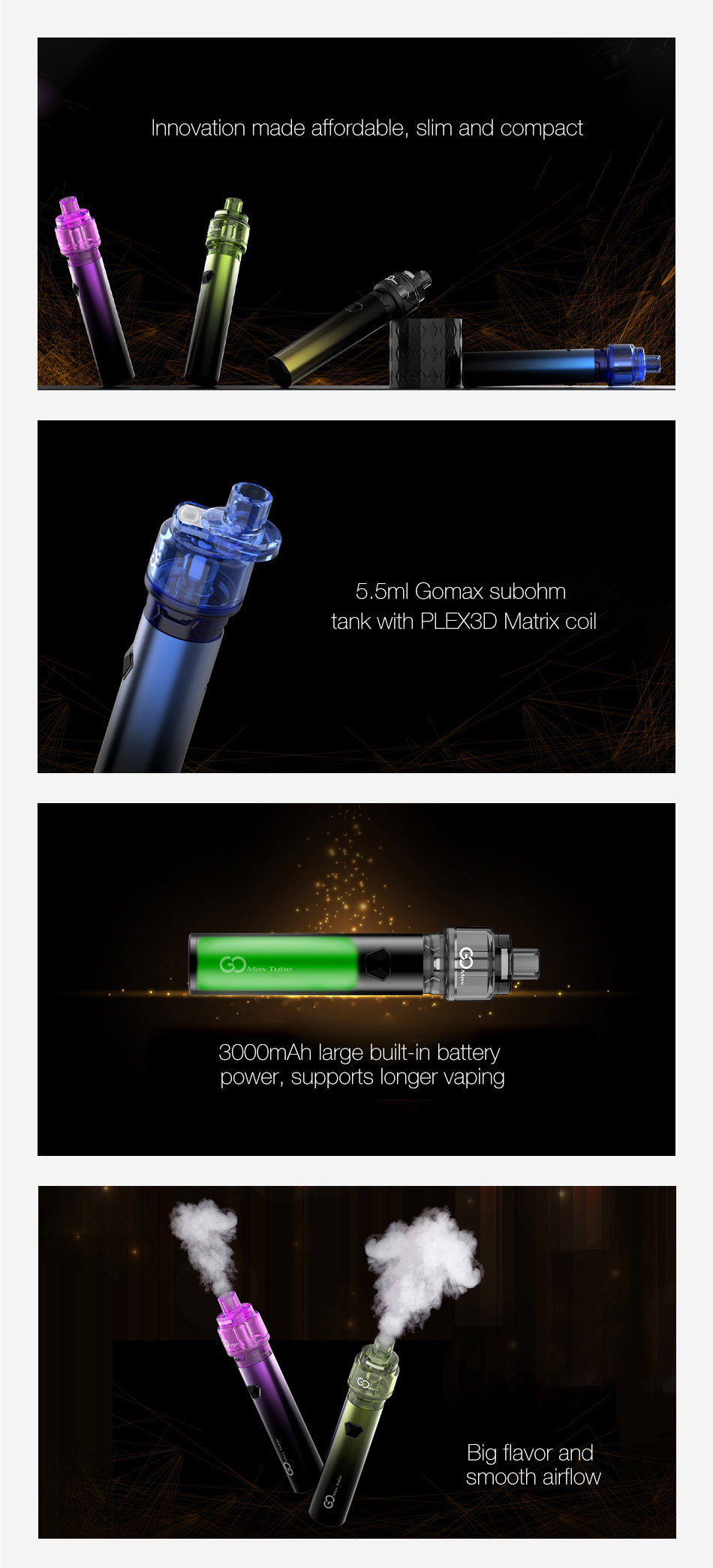 Innokin Gomax Tube Pen Kit 3000mAh