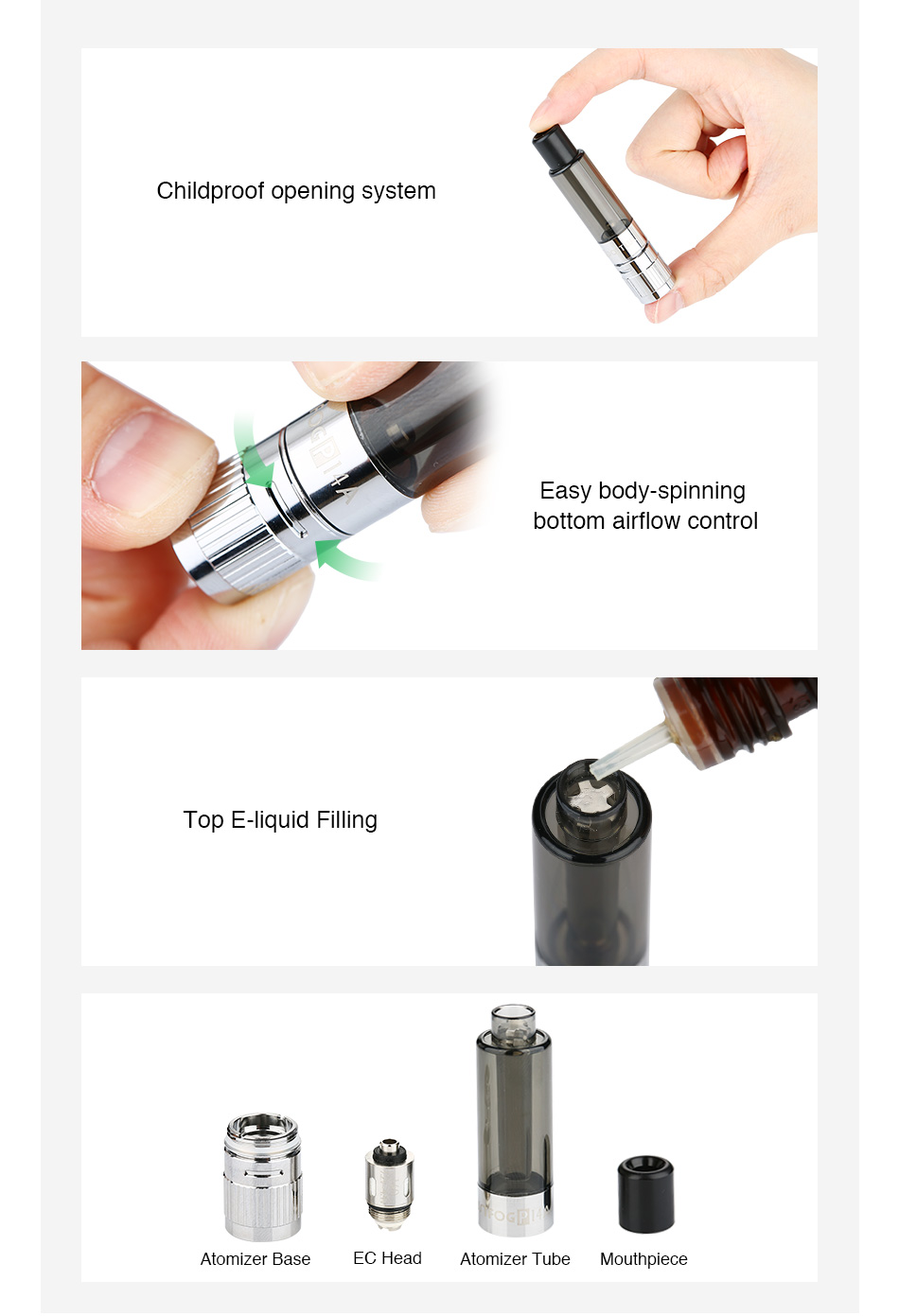 JUSTFOG P14A Clearomizer - 1.9ml