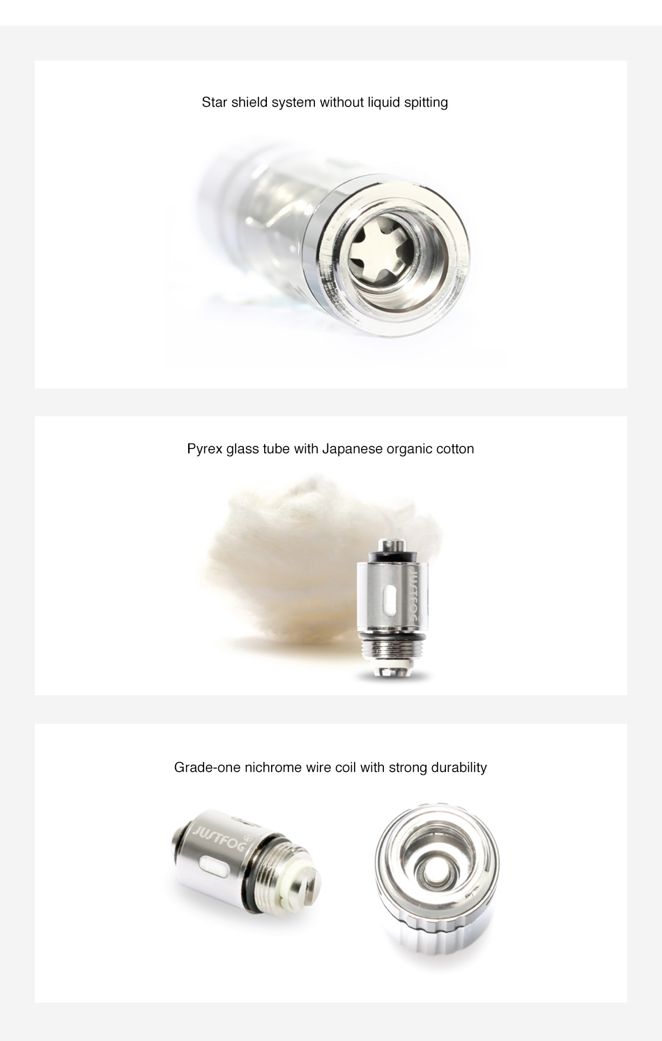 JUSTFOG Q14 Clearomizer 1.8ml