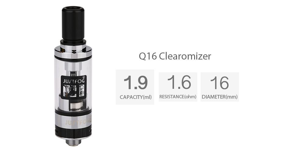 JUSTFOG Q16 Clearomizer - 1.9ml