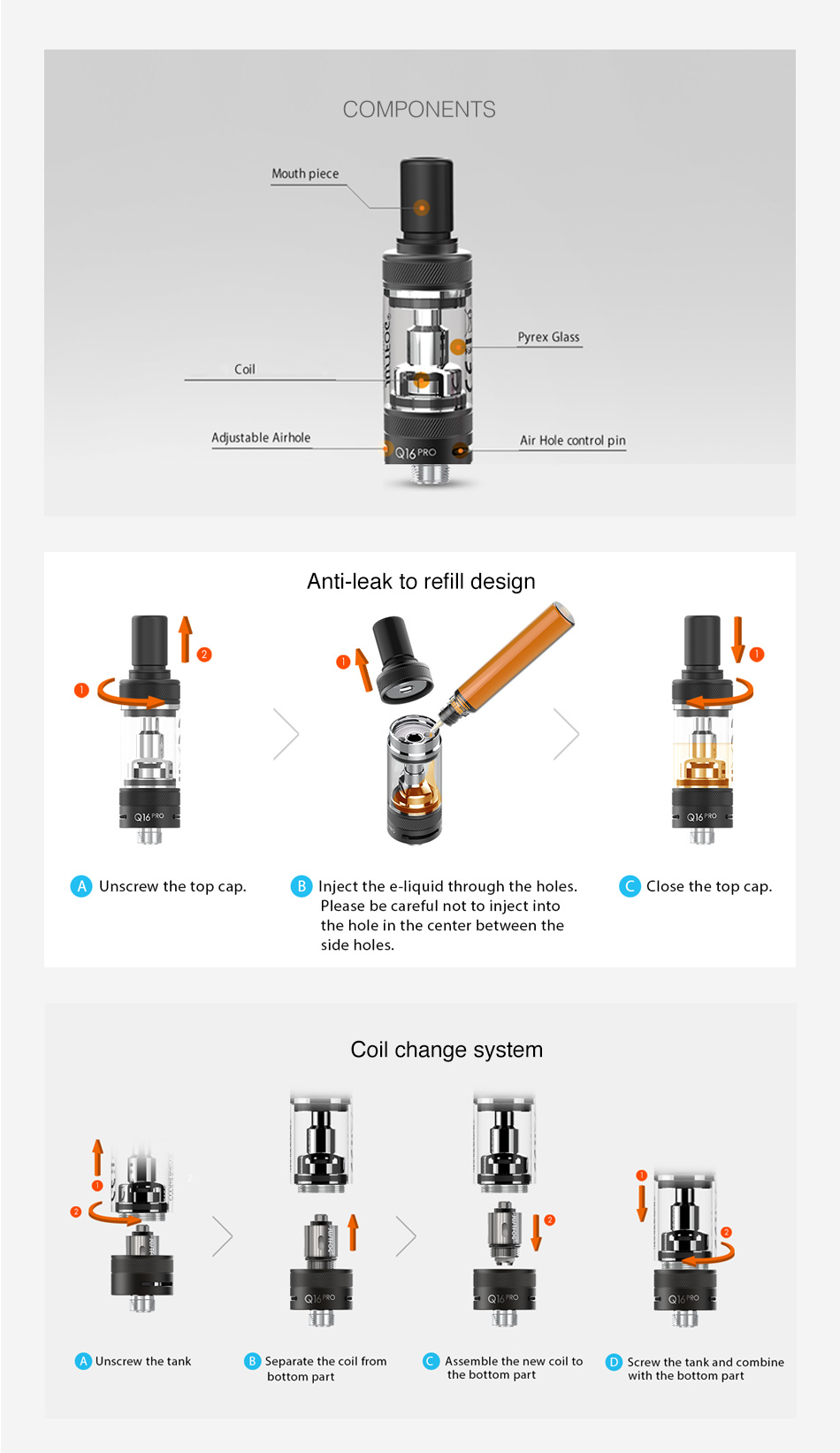 JUSTFOG Q16 Pro Clearomizer 1.9ml