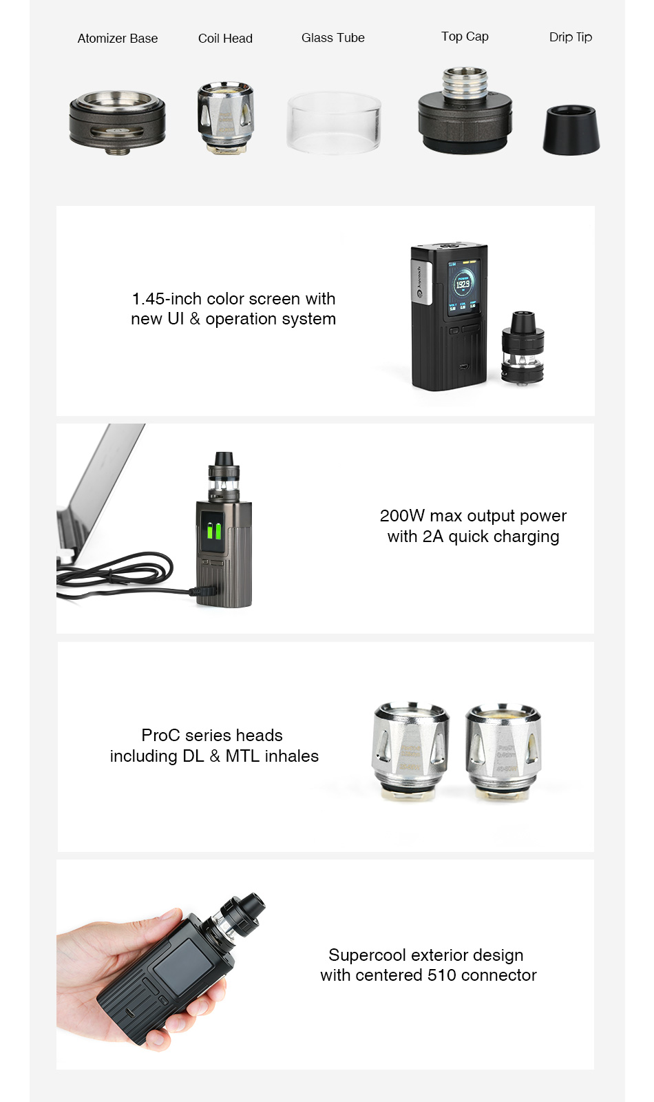 Joyetech ESPION 200W with ProCore X TC Kit