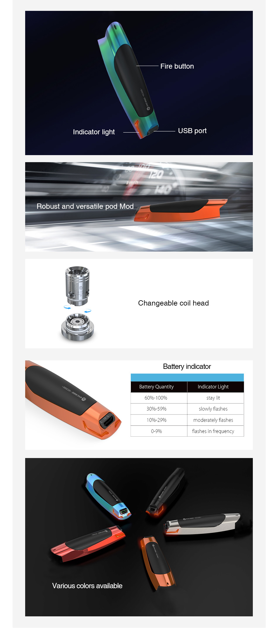 Joyetech Exceed Edge Battery 650mAh