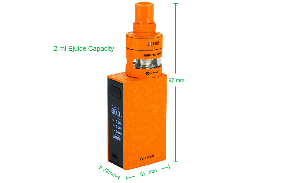 Joyetech eVic Basic with CUBIS PRO Mini Kit - 1500mAh, Wrinkle Finish