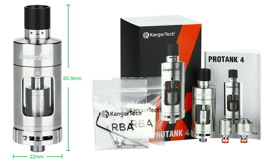 Kangertech Protank 4 Evolved Clearomizer - 5ml