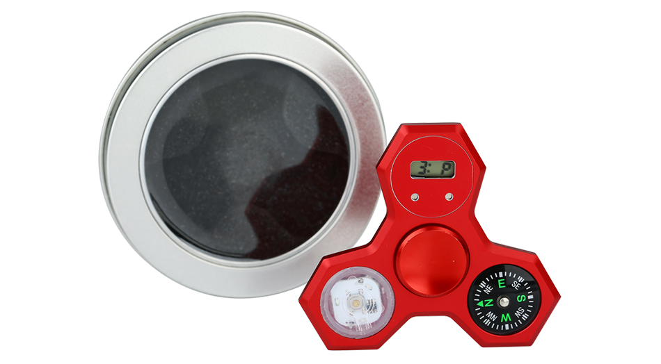 LED Compass Hand Spinner With Digital Clock