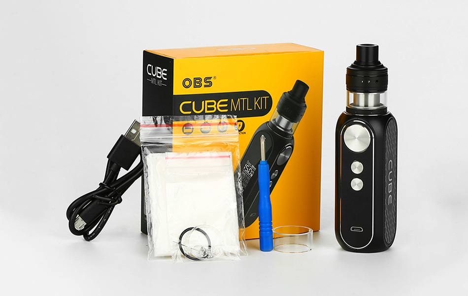 OBS Cube 80W VW Kit with Engine MTL RTA 3000mAh