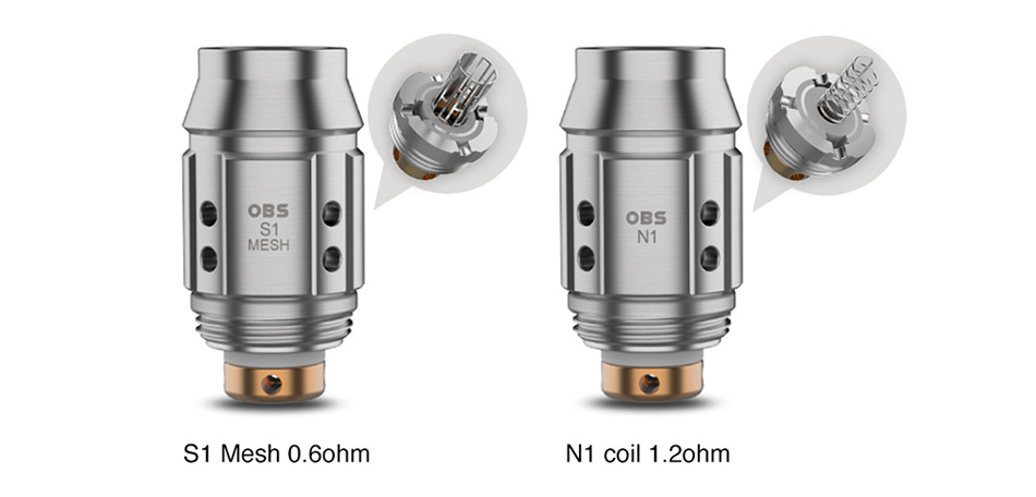 OBS Cube mini Replacement Coil 5pcs