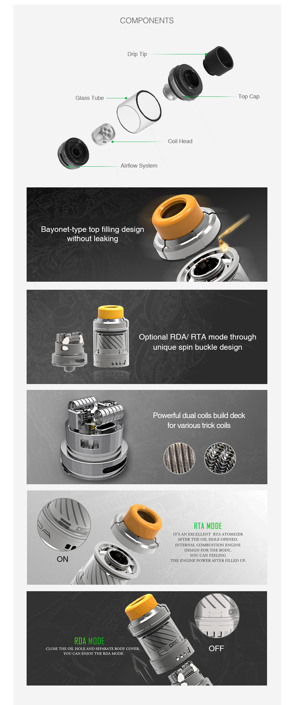 OMG CDA Multi-function DIY Tank 2ml
