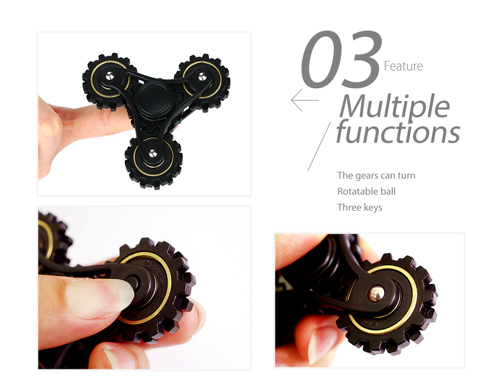 R188 Steel Bearing Hand Spinner with Four Gears