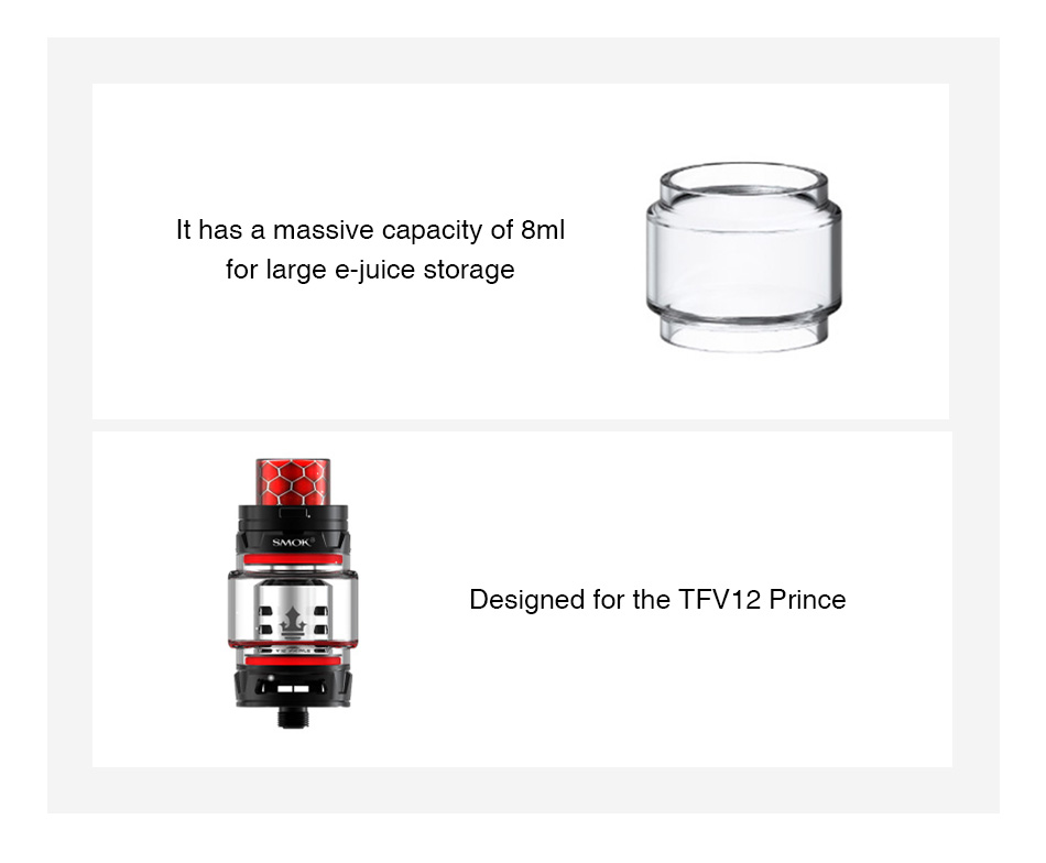 SMOK Bulb Pyrex Glass Tube para TFV12 Prince 8ml 3pcs