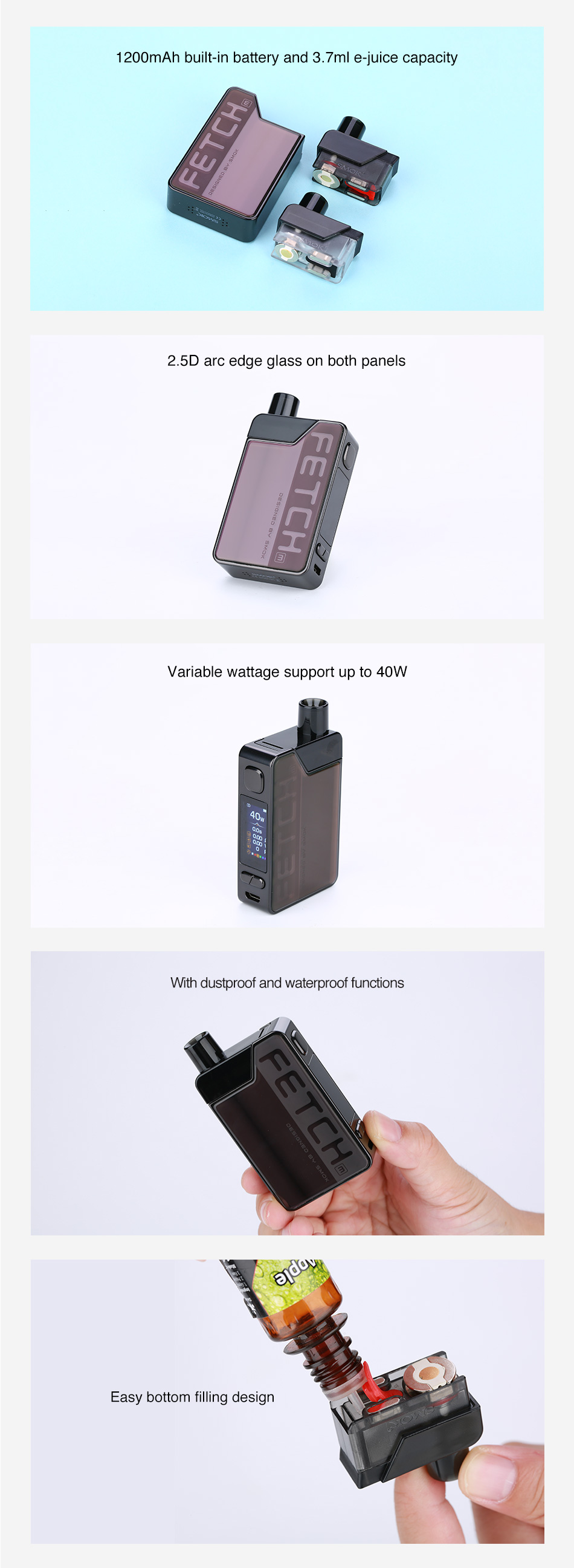 SMOK Fetch Mini Pod Kiti 1200mAh