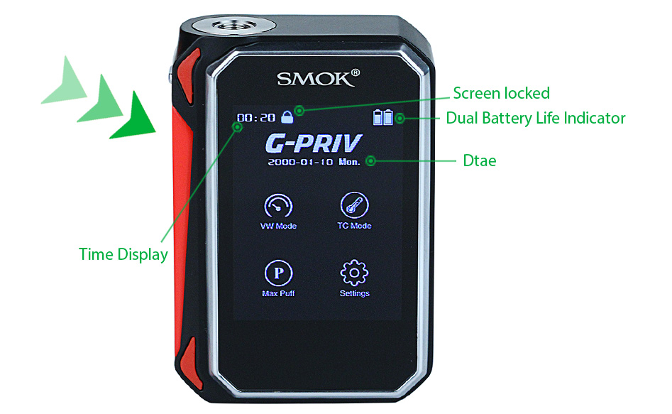SMOK G-PRIV 220 Touch Screen MOD W/O Battery