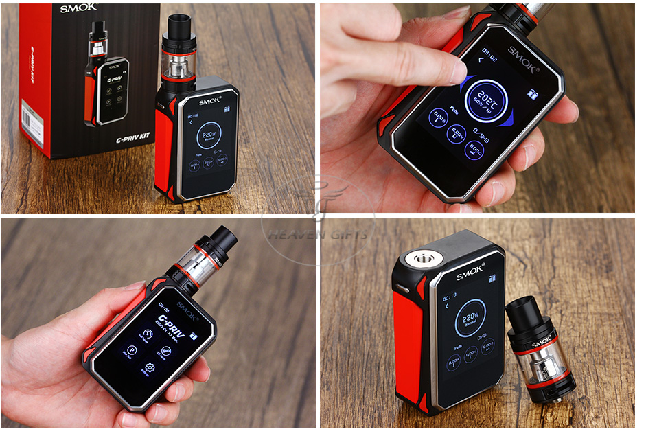 SMOK G-PRIV 220 With TFV8 Big Baby Starter Kit W/O Battery