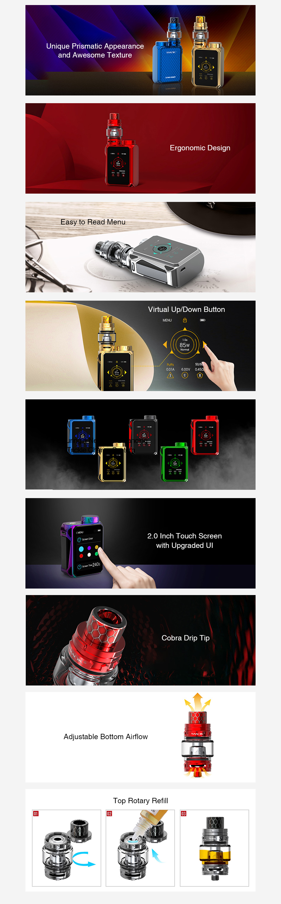 SMOK G-PRIV Baby 85W with TFV12 Baby Prince Kit Luxe Edition
