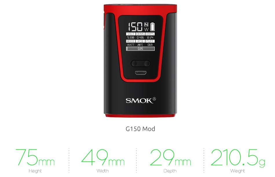 SMOK G150 Kit with TFV8 Big Baby - 1900mAh