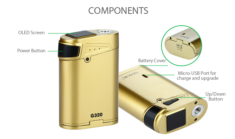 SMOK G320 Marshal TC MOD W / O Battery