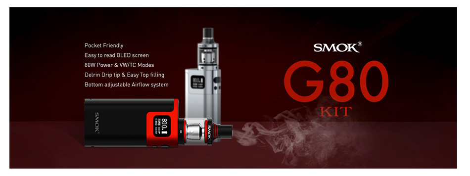 SMOK G80 Kit with Spirals Tank W/O Battery