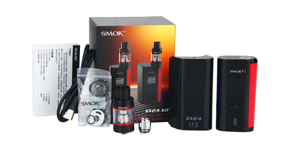 SMOK GX2/4 TC Kit with TFV8 Big Baby W/O Battery