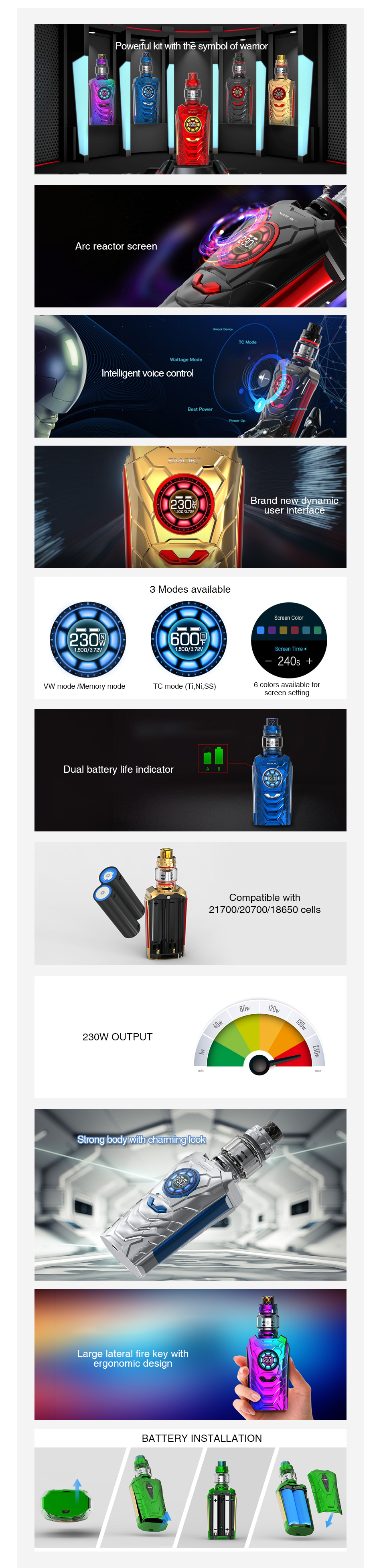 SMOK I-Priv 230W Voice Control TC Kit
