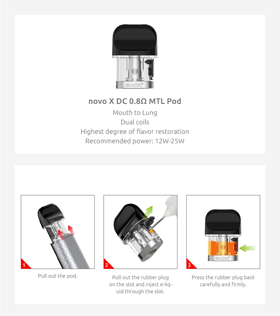 SMOK Novo X Replacement Pod 2ml 3pcs