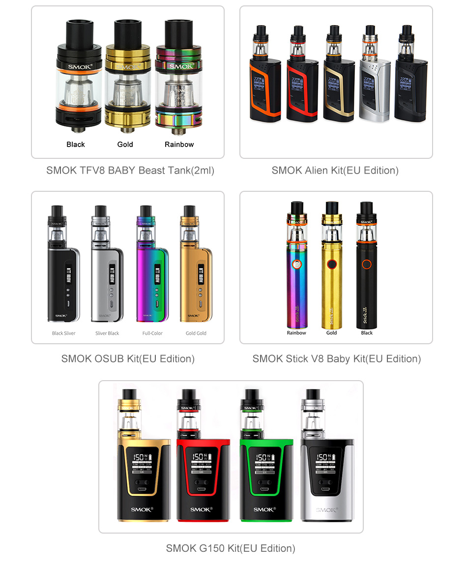 SMOK TFV8 Baby Tank Extension Pack